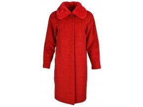 Kabát elegantný dlhý s golierom - DELFINO FUR