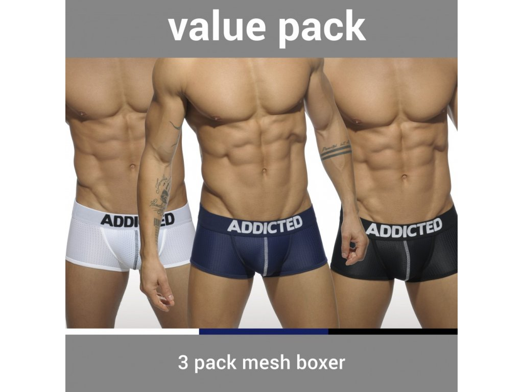 fbfd441e9e5 Balíček pánských boxerek AD 3PACK MESH BOXER PUSH UP - ES Collection ...