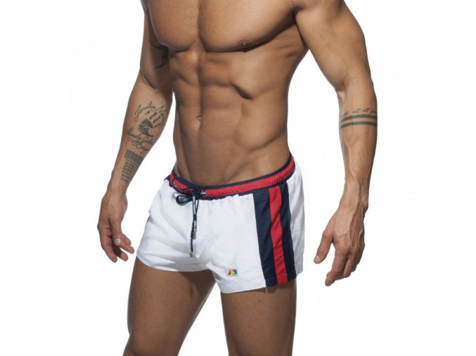 ads214 stripes basic swim short