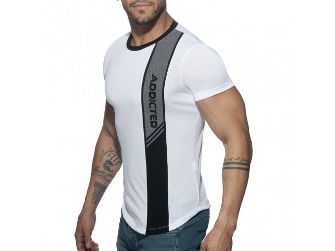 ad779 vertical stripe t shirt
