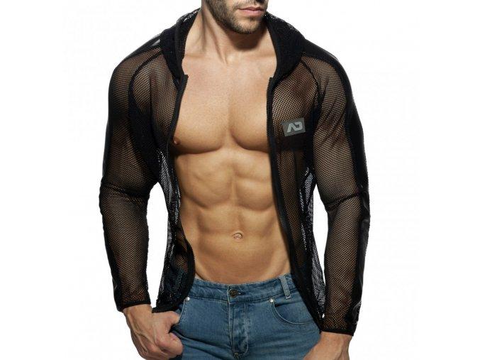 ad841 black white mesh jacket (5)