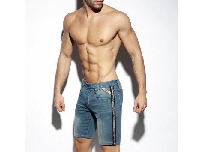 esj059 chains bermuda jeans