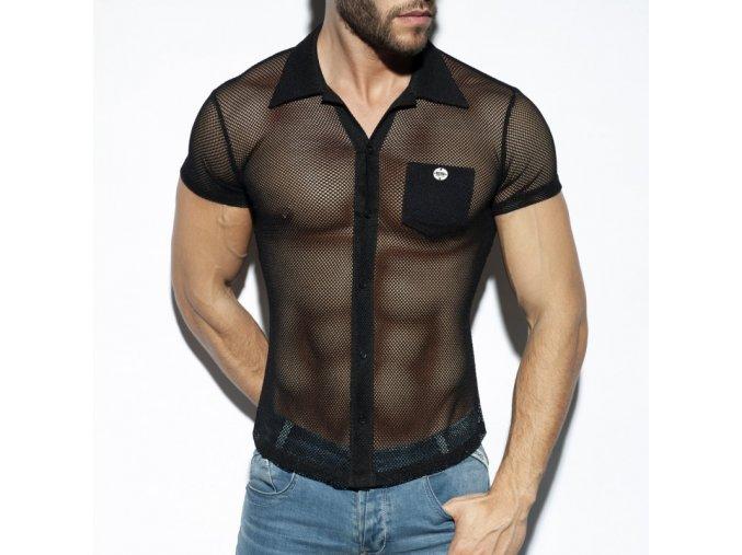 sht024 mesh short sleeves shirt (13)