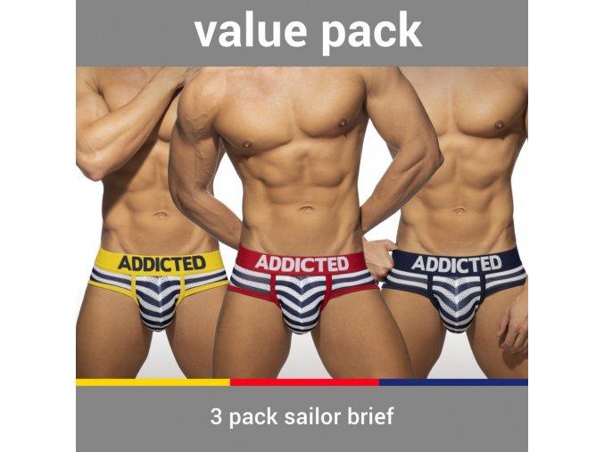 ad964p 3 pack sailor brief
