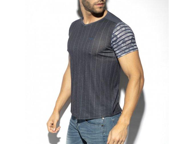 flowery striped t shirt