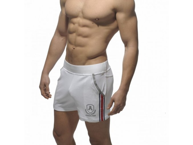 Pánské kraťasy AD SHORT TIGHT PANT INTERCOTTON - bílé