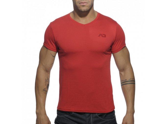 Pánské tričko AD BASIC V-NECK T-SHIRT - červené