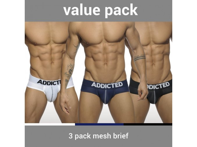 ad475p 3 pack mesh brief push up