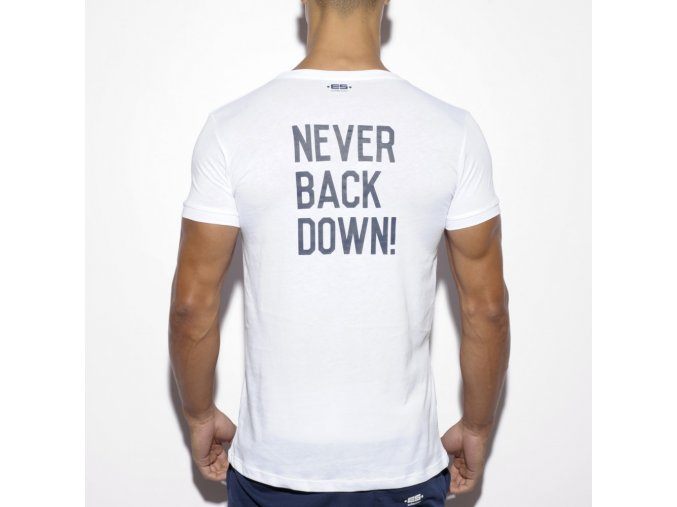 ts172 never back down u neck t shirt (1)