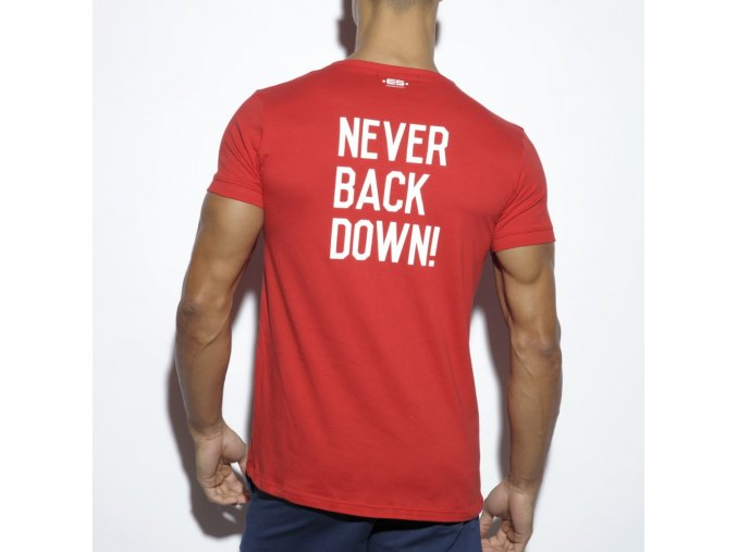 ts172 never back down u neck t shirt (3)