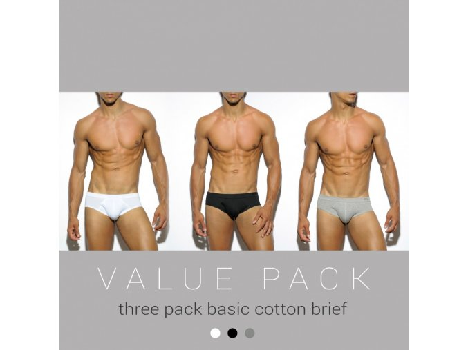 un184p three pack basic cotton brief