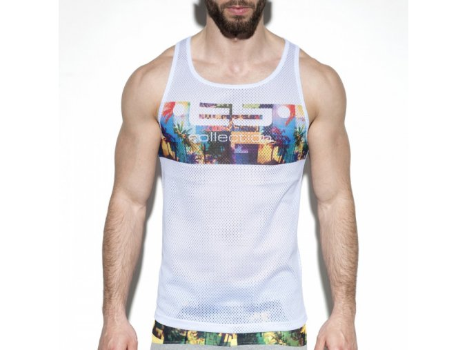 ts213 palm glitch tank top