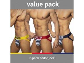 ad966p 3 pack sailor jock