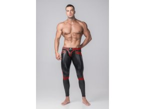 Pánské legíny Maskulo Youngero Generation Y. Men's Leggings. Codpiece. Zippered Rear - červené