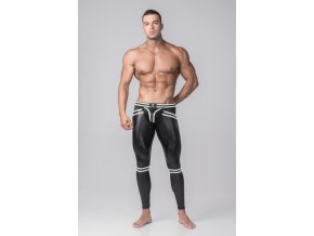 Pánské legíny Maskulo Youngero Generation Y. Men's Leggings. Codpiece. Zippered Rear - bílé
