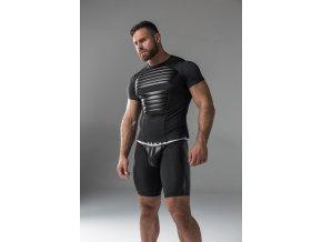 Pánské tričko Maskulo Armored. Men's T-Shirt. Spandex. Front Pads - černé