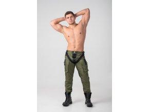 Pánské kalhoty Maskulo EnForce. Two-sides zippered Pants - kaki