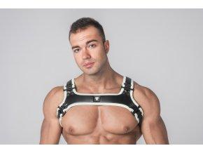 Harnessy Maskulo Youngero Generation Y. Men's Bulldog Harness - bílé