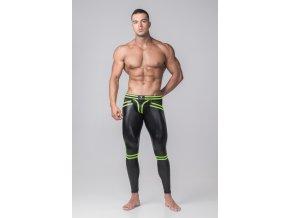 Pánské legíny Maskulo Youngero Generation Y. Men's Leggings. Codpiece. Open Rear - zelené