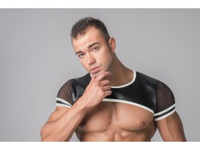 Pánský crop Maskulo Men's Crop Top - bílý