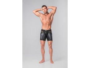 Pánské kraťasy Maskulo Men's Open Rear Cycling Shorts - černé
