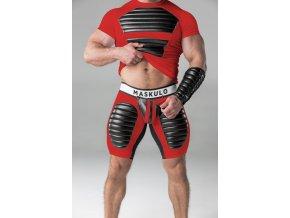 Pánské kraťasy Maskulo thigh pads regular rear cycling shorts - červené