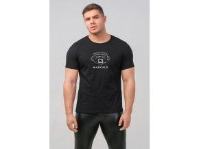 Pánské tričko Maskulo Men's T-Shirt Collar - černé