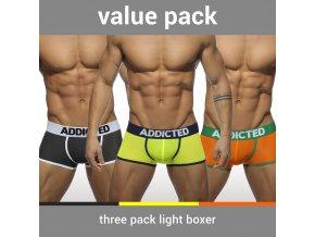 Balíček pánských boxerek AD 3 PACK LIGHT BOXER