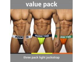 Balíček pánských jockstrapů AD 3 PACK LIGHT JOCKSTRAP