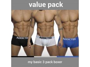 Pánské boxerky AD MY BASIC 3 PACK BOXER