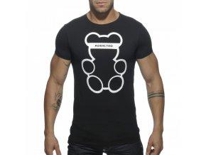 Pánské tričko AD BEAR ROUND NECK T-SHIRT - černé
