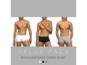 un185p three pack basic cotton boxer