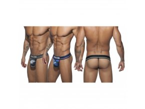 ad701p 3 pack camo mesh thong push up