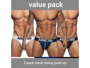 ad732p 3 pack mesh thong push up