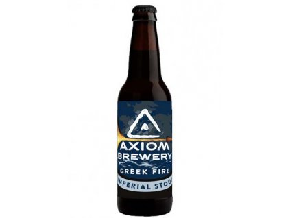 Axiom Brewery - Greek Fire 27°, 12,5% alk. Imperial Stout, lahev