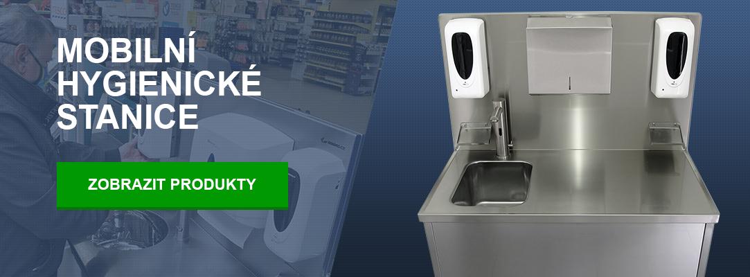 Mobilní hygienické stanice pro supermarkety a hypermarkety