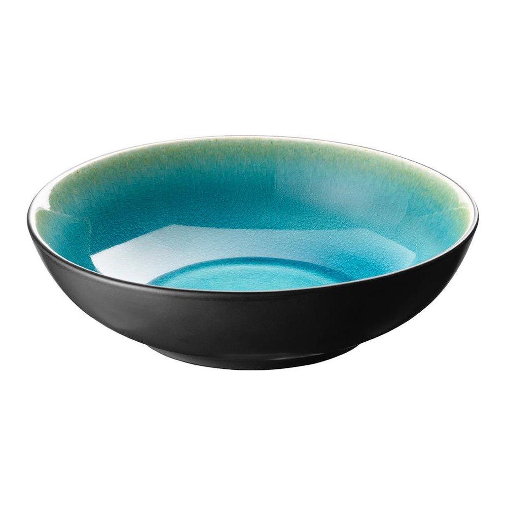 1278 miska porcelanova hluboka s modrymi prechody cabo 21 cm