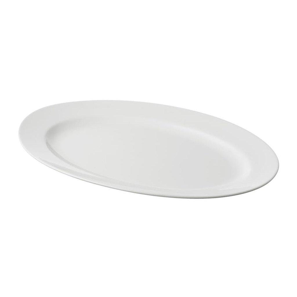 1371 misa melka porcelanova bila 39x26 cm ovalna