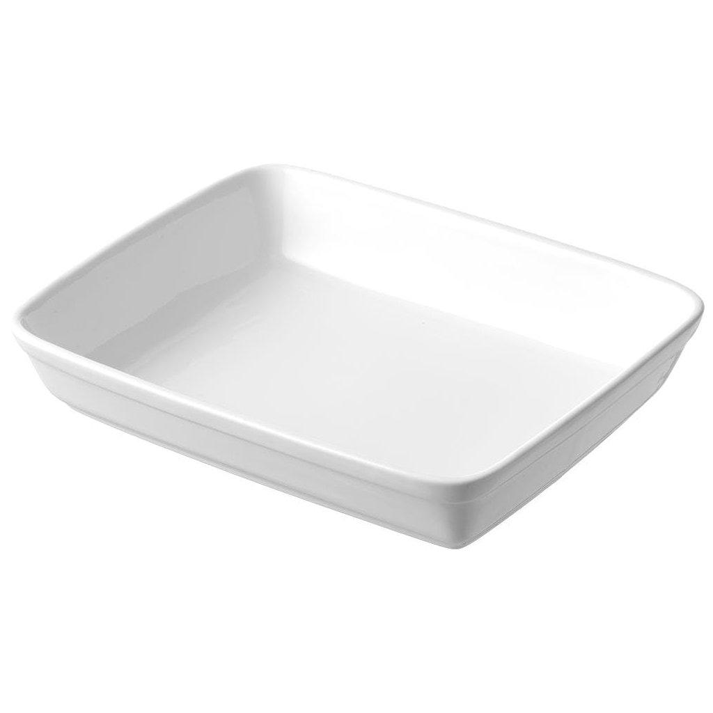Mísa hluboká porcelánová bílá Tendence 30 x 24 cm obdélníková, sada 6ks