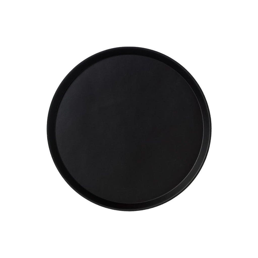 Podnos protiskluzový černý Cambro kruh 40 cm