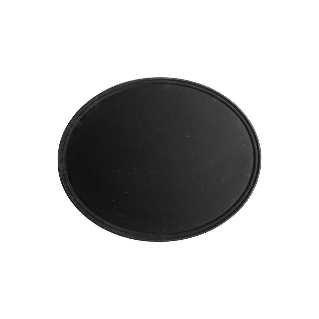 Podnos protiskluzový černý Cambro ovál 73,5 x 60 cm