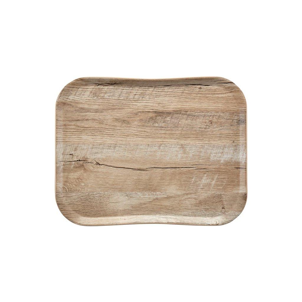 Podnos servírovací vzor světlý dub Cambro obdélník 47,5 x 35,5 cm