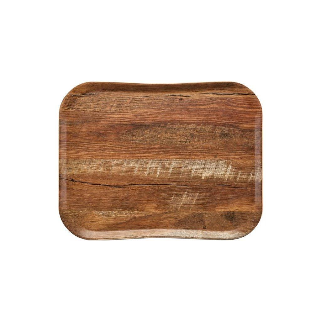 Podnos servírovací vzor dub Cambro obdélník 47,5 x 35,5 cm