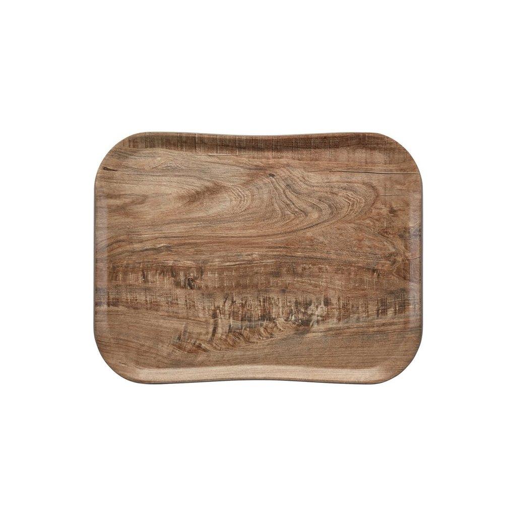 Podnos servírovací vzor olivové dřevo Cambro obdélník 47,5 x 35,5 cm