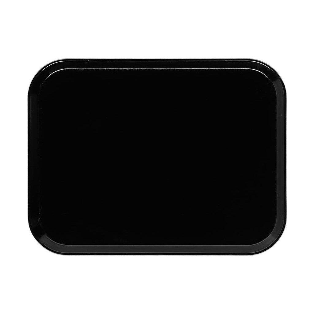Podnos servírovací vzor černý Cambro obdélník 42 x 32 cm