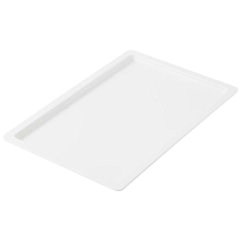 Mísa mělká melaminová bílá Destino o velikosti 1/1 GN hloubky 2 cm (H2), sada 15ks