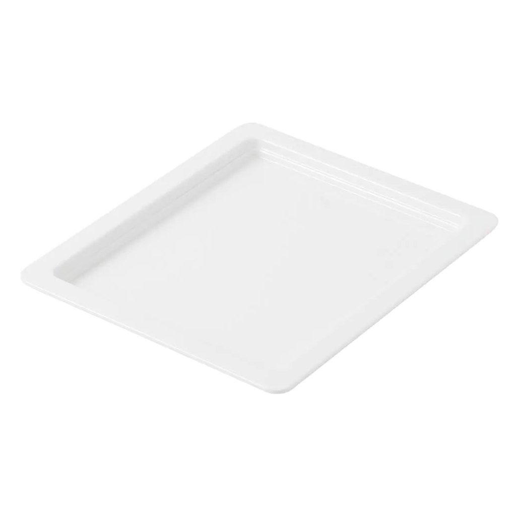 Mísa mělká melaminová bílá Destino o velikosti 1/2 GN hloubky 2 cm (H2), sada 24ks