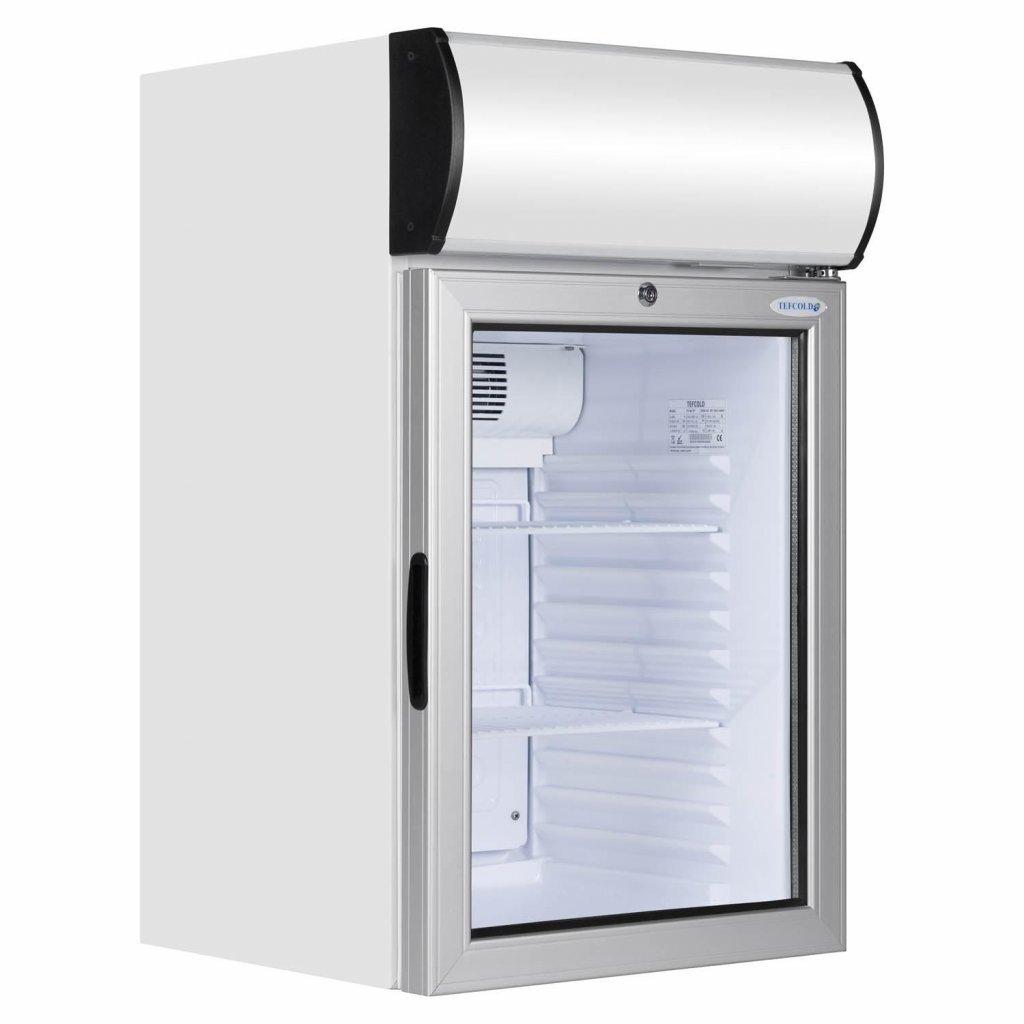 chladici skrin prosklena jednodverova tefcold FS80CP