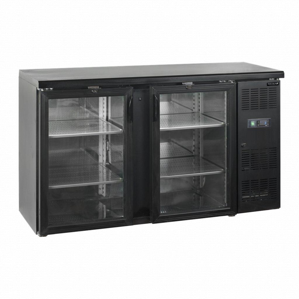 cerny chladici stul Tefcold CBC210 P prosklene dvere