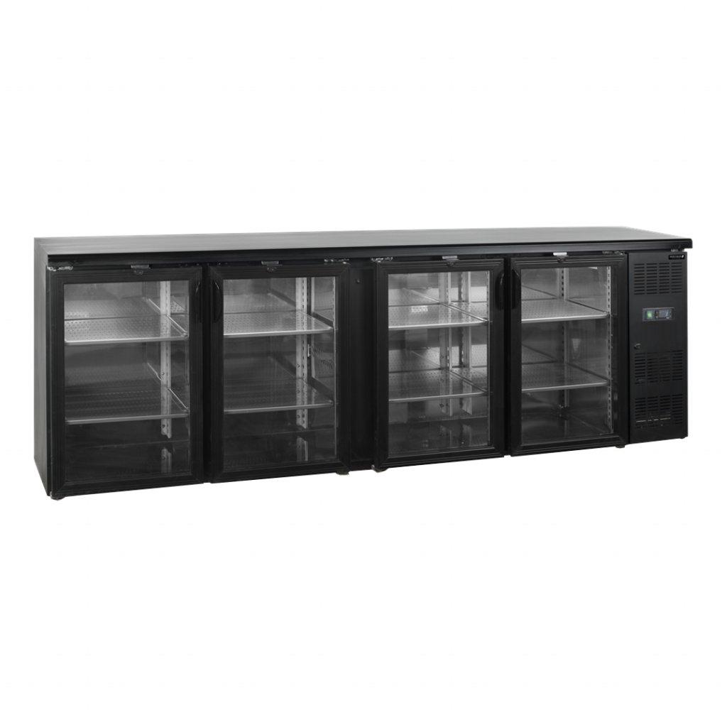 cerny chladici stul Tefcold CBC410 P prosklene dvere